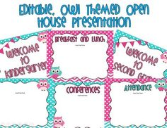 This PowerPoint Presentation was created to make it simple and easy for teachers to prepare for Open House. The slides are colorful and frog themed. Included in this zipped file is:*an editable 32 slide owl themed Open House Power Point Presentation*a sample, filled Open House presentation to use as referencePlease note all the graphics are locked per the artists terms of use.If you would like matching parent forms for back to school, you can find them…