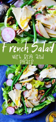 French Side Dishes, Best Side Dishes, Best Appetizers, Appetizer Recipes, Vegetarian Recipes, Healthy Recipes, Healthy Foods, Yummy Recipes, French Salad Recipes