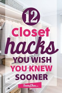 Take a look at these fantastic closet organization hacks and optimise your closet space. Take a look at these fantastic closet organization hacks and optimise your closet space. Wardrobe Organisation, Small Closet Organization, Home Organization Hacks, Storage Hacks, Bedroom Organization, Clothing Organization, Storage Ideas, Wardrobe Storage, Clothing Racks