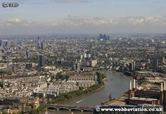 aerial shot of London, Pimlico area of Westminster