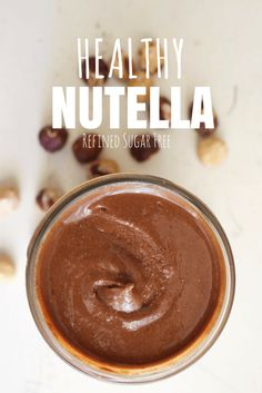 Healthy Homemade Nutella - Runs & Roses