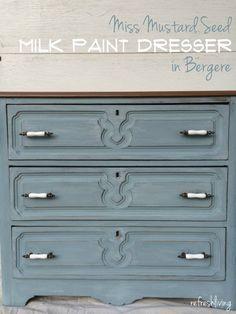 Simple Milk Paint Dresser Update