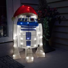 Star WArs R2-D2 Lighted Lawn Ornament Puts Everyone In The Spirit -  #r2d2 #starwars #xmas