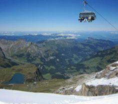 Ice Flyer on Mt. TITLIS in Summer, Central Switzerland