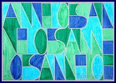Tekenen en zo: Naamkaartje in de stijl van Paul Klee