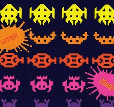 Vintage Space Invaders Wrapping Paper | Flickr - Photo Sharing!