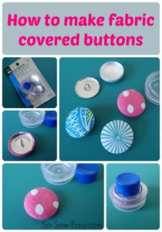 How to make your own perfectly co-ordinated fabric covered buttons.  Never search in vain for the perfect button again.