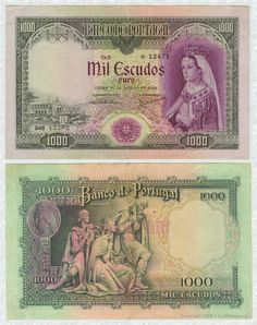 portuguese money | As Mulheres nas Notas Money Notes, Tlingit, Banknote, Old Maps, Rare Coins, Autocad, Old Pictures, Historical Photos, Postage Stamps