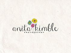 Premade photography logo design using colorful flowers watermark. Vector and watermark files included. on Etsy, $15.00