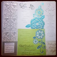 Beautiful wedding cards and special messages make amazing Scrapbooking pages