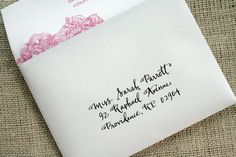 printing on the envelope flap