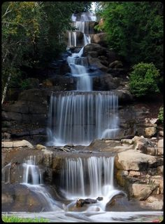Cascading Waterfall, Robinson, Pennsylvania Visit our Page -► ツ Wild Life With Amazing Nature ツ ◄- For Beautiful Waterfalls, Beautiful Landscapes, Natural Waterfalls, Beautiful Places, Beautiful Pictures, Beautiful Nature Photos, Simply Beautiful, Image Nature, Belle Photo