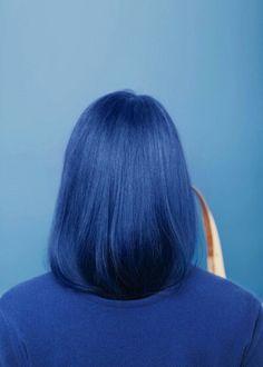blue on blue hair