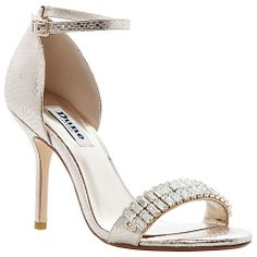 7e871ca6937d Dune Champagne two part jewelled metallic sandal- at Debenhams.com Wedding  Dress Accessories