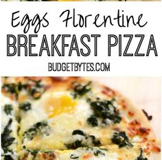 This creamy Eggs Florentine Breakfast Pizza combines a garlicky white sauce, mozzarella, spinach, and a perfectly silky yolk for an easy ye. White Sauce Recipe Microwave, Salmon White Sauce Recipe, White Sauce Recipe For Fish Tacos, Recipe For Fish Pie, Chicken White Sauce, Easy White Sauce, White Sauce Recipes, White Sauce Pasta