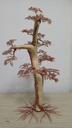"Check out our internet site for additional relevant information on ""metal tree sculpture"". It is actually a superb spot to find out more. Copper Wire Crafts, Copper Wire Art, Wire Art Sculpture, Tree Sculpture, Sculptures, Metal Tree Wall Art, Metal Art, Wire Jewelry, Wire Wrapped Jewelry"
