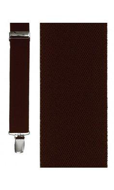 Dark Brown Newport Suspenders