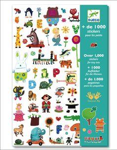 Djeco set 1000 beeldige stickers 3j