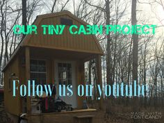 Tiny house. #tiny house Tiny House, Neon Signs, Cabin, Projects, Log Projects, Blue Prints, Cottage, Cottages