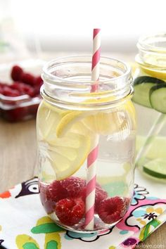 Raspberry Lemon Water - 11 recipes for infused water