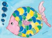 Glitter Fish by Michelle, age 11, Houston, TX   https://drawntogive.com/md-anderson