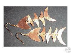 Fair Trade Copper Bombolulu Fish Earrings--$10.00.