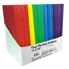 A+Homework Two Pocket Folders - 9 in. x 12 in. - Case of 100