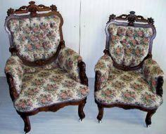 antique Victorian furniture - John Jelliff chairs