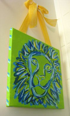 Lion Painting by tealejane on Etsy, $25.00