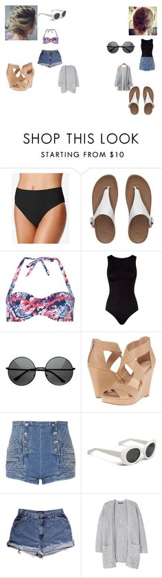 """fun in a warmer place"" by geor6900 on Polyvore featuring Gottex, FitFlop, Dorothy Perkins, Oye Swimwear, Jessica Simpson, Pierre Balmain and MANGO"
