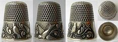 American thimbles are known for scenic decorations, especially of farms and waterfronts. Floral designs were popular for English. The French favored highly elaborate gold thimbles embellished with enamel or semi-precious stones, while the Norwegians were often enameled over guilloche.
