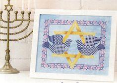 Hanukkah Doves - Sharon Pope (designer) - stitch count 135w x 107h