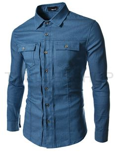 Cheap camisa jeans masculina, Buy Quality men jeans shirt directly from China casual denim shirt Suppliers: New Mens Jean Shirt 2017 Cotton Slim Fit Brand Casual Denim Shirts Long Sleeve Male Cowboy Shirt Camisa Jeans Masculina Size Denim Shirt Dress, Long Sleeve Shirt Dress, Long Sleeve Shirts, Denim Shirts, Dress Shirts, Shirt Outfit, Men's Denim, Denim Style, Button Shirts