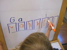 A simple name writing activity to do with preschoolers