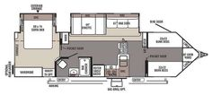 camper floor plans with bunk beds - Google Search