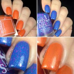 This summery duo was inspired by sipping cool drinks by the beach.  Available for a 7 day pre-order from August 6th - 13th at both Girly Bits and Firecracker Lacquer