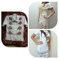 Sí deseas alquilar o comprar tu outfit típico, tenemos vestidos para dama en talla S y camisa para h - materialesangie
