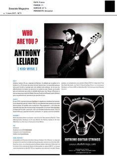 Kid Wise dans Bassiste Magazine Mars 2017