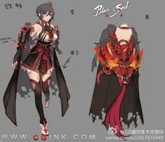 ✧ #characterconcepts ✧ Blade & Soul