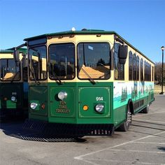 We love the trolleys in the #Smokies! Don't you? #PigeonForge