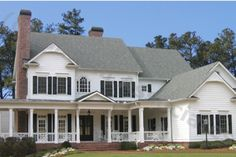 Farmhouse Style House Plan - 5 Beds 5.5 Baths 5209 Sq/Ft Plan #54-103 Exterior - Front Elevation - Houseplans.com