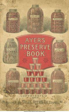 Ayer's preserve book, ca. 1880s