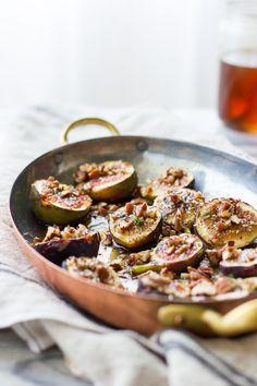 Za'astar Broiled Figs with Pecans + Goat Cheese Honey Ice Cream // The Bojon Gourmet