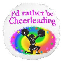 CUTE AND COLORFUL CHEERLEADING DESIGN ROUND PILLOW http://www.zazzle.com/mysportsstar/gifts?cg=196898030795976236&rf=238246180177746410   #Cheerleading #Cheerleader #Cheerleadinggifts #Cheerleadergift #loveCheerleading #BowtoToe
