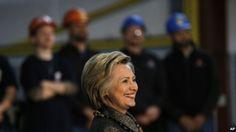 "Hillary Clinton dice Donald Trump es ""un tiro al aire"""