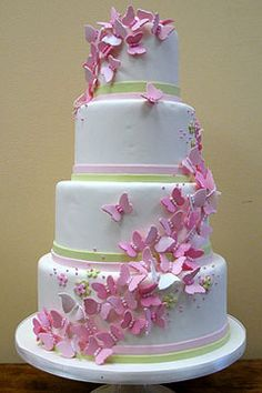 Butterfly inspired wedding cake
