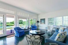 The Original Grey Gardens Carriage House Is on the Market French doors open out from a the original carriage room to a shaded pool terrace. Hamptons House, The Hamptons, Living Room Accents, Living Room Decor, Grey Gardens, Carriage House, Minimalist Living, Maine House, Historic Homes