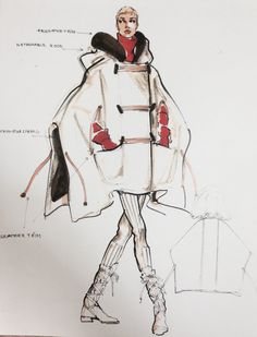 This is a cape the I designed for Anne Klein Coats 1994 Richard Tyler was hired as Creative Director for the company by this time.