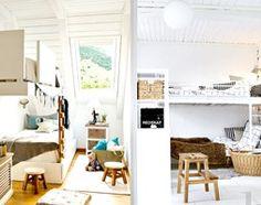 Łóżka piętrowe w dziecięcym pokoju. - zdjęcie od cleo-inspire