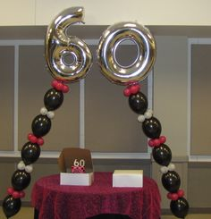 most unique 60 th birthday party ideas | Party People Celebration Company - Special Event Decor Custom Balloon ...